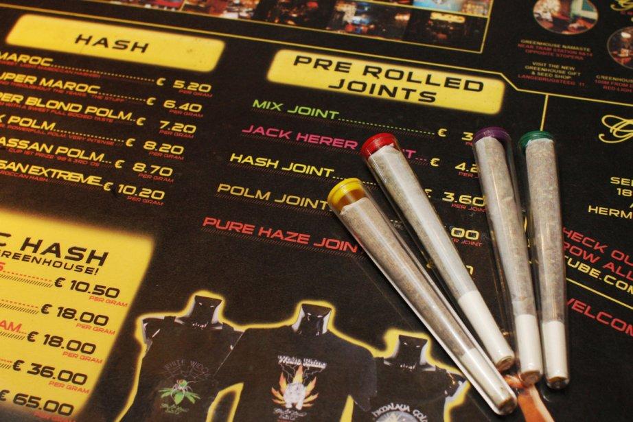 Le menu d'un coffee shop d'Amsterdam.... (Photo: AP)
