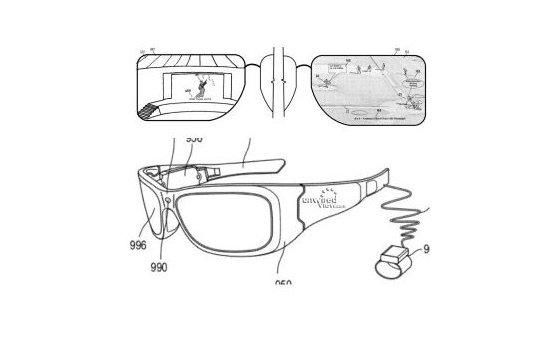 Microsoft a publié unbrevetsur un concept de lunettes à réalité augmentée,...