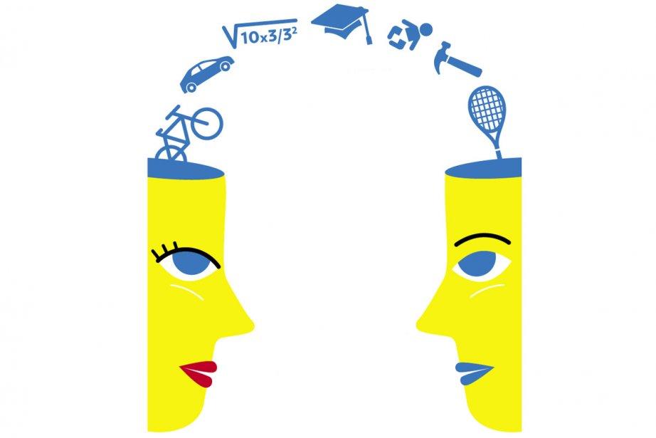 Les femmes sont plus empathiques et... (Illustration: Marie Leviel, La Presse)