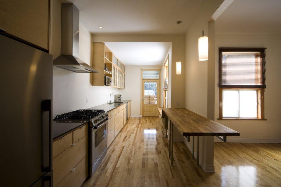 Le réaménagement de cette cuisine a été conçu... (Photo fournie par Steve Montpetit)