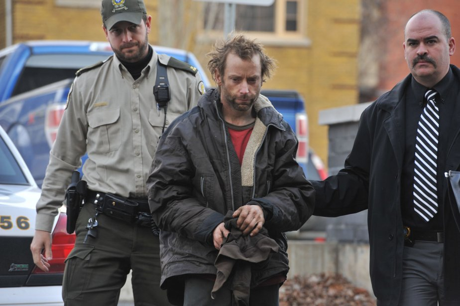 Le conducteur du tracteur, Patrice Brouillette, lors de sa comparution au palais de justice de Trois-Rivières. | 26 novembre 2012