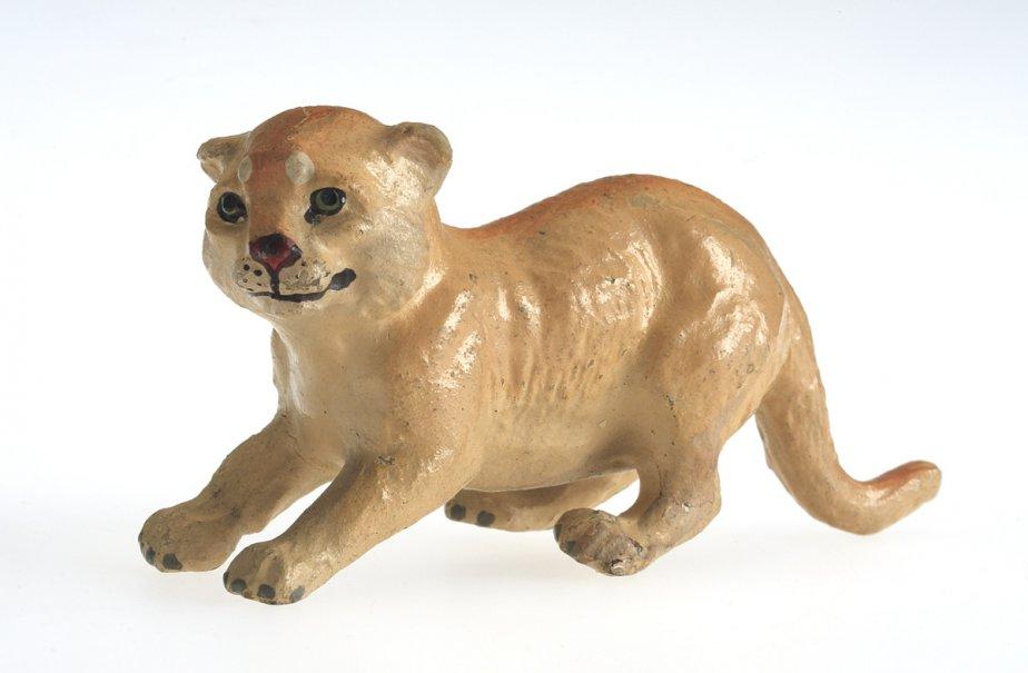 Le zoo et les animaux. Animaux jouets 1910-1930. Matériau composite peint, métal. Don de Mme George H. Montgomery. (Photo: fournie par le Musée McCord)