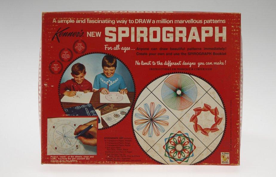 Jeu, Spirographe. 1968. Fabricant : Kenner?s. Carton, plastique. Don de Mme Kathleen E. Simpson. | 27 novembre 2012