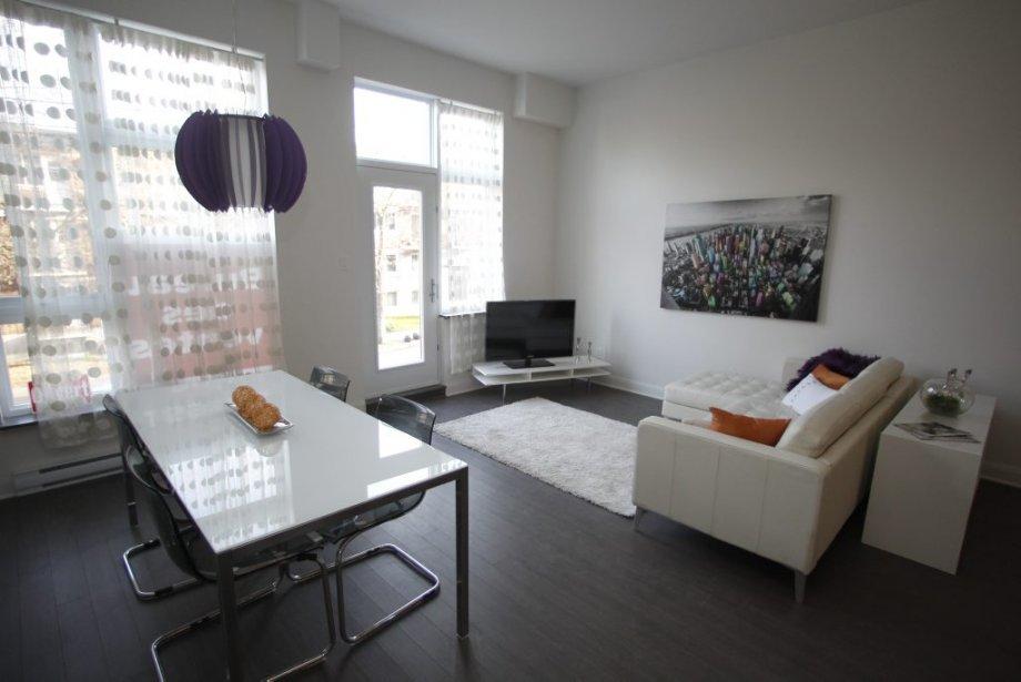 L'appartement témoin est situé au deuxième étage. | 27 novembre 2012