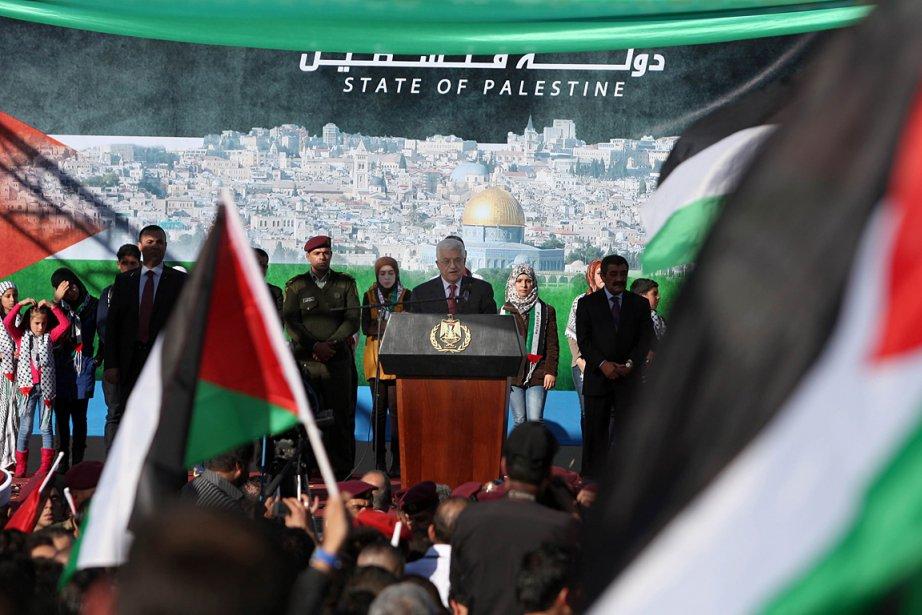 Les Palestiniens ont accueilli avec joie l'admission de... (Photo: AFP)