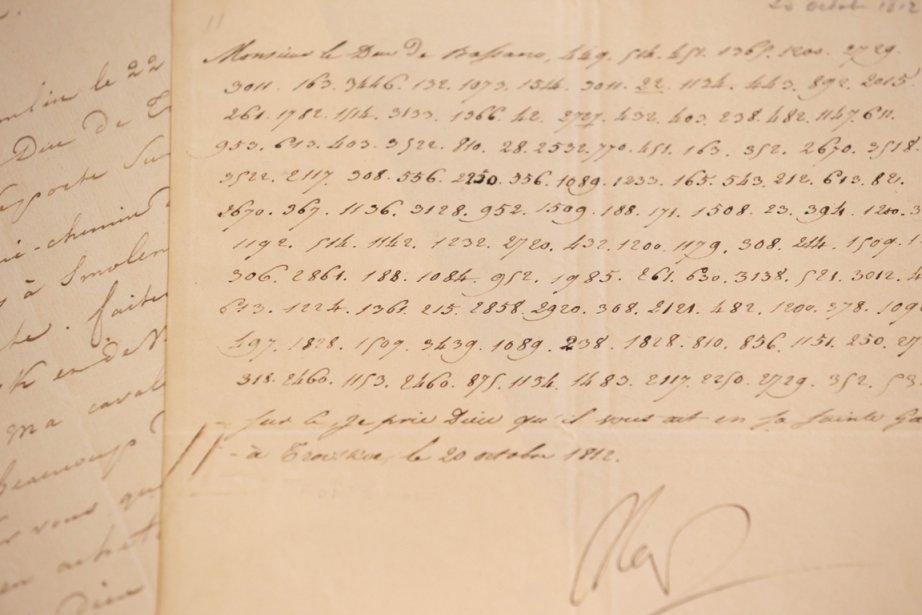 Une lettre signée par l'Empereur Napoléon Ier.... (Photo AFP)