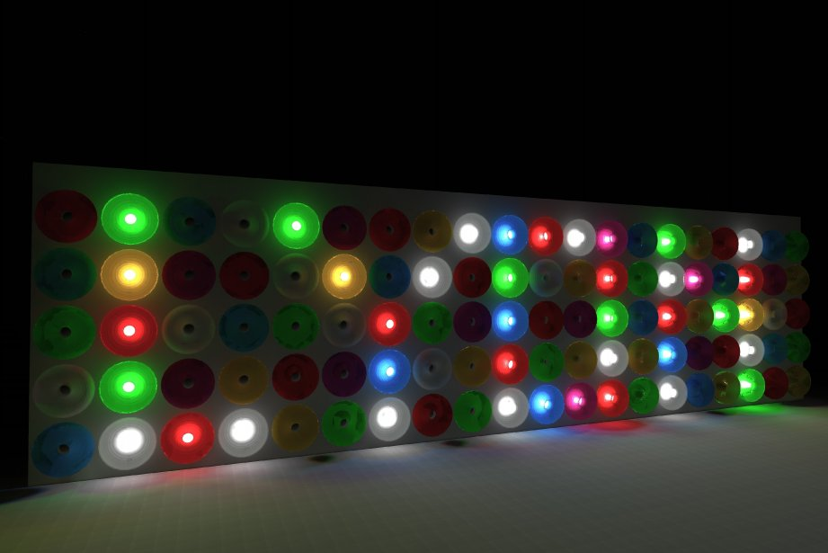 «Floating Lights»/ InstitutCervantes Cette oeuvre met à contribution les visiteurs. Les 132 flotteurs de cette installation s'allument au gré des envies par une simple pression de la main. Tout en s'amusant, chacun pourra créer des mots ou des formes. | 3 décembre 2012