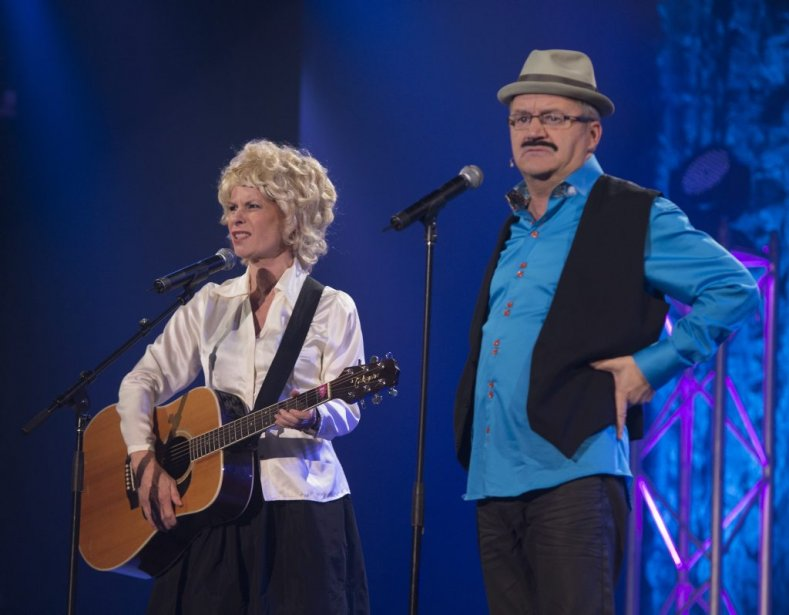 Louise Richer et Michel Barrette (Photo: André Pichette, La Presse)