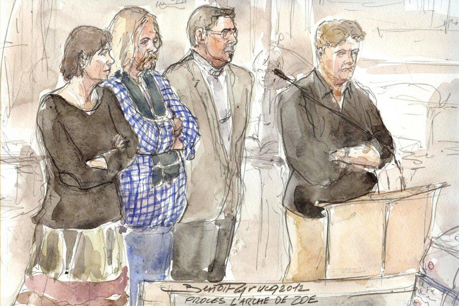 Le procès de six membres de l'Arche de... (ILLUSTRATION BENOÎT PEYRUCQ, AFP)