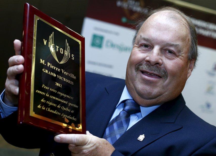 Pierre Verville a reçu le Grand Victoris soulignant l'ensemble de sa carrière. Il a oeuvré pendant une quarantaine d'années dans les sphères du hockey régional dont 36 à titre de président de la section régionale de la Fédération québécoise de hockey sur glace. | 5 décembre 2012