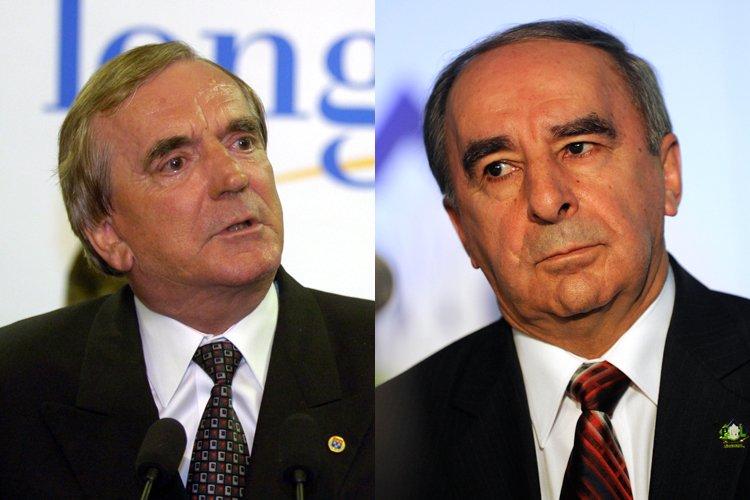 Claude Gladu (à droite), a été maire de... (Photos archives La Presse)