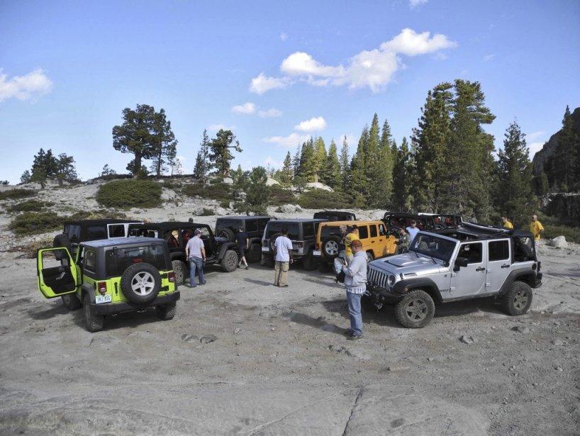 Jeep organise chaque année un pèlerinage (Jeep Jamboree) pour les amateurs de ses produits. Quelque 500 amateurs y participent. (Photo Éric Lefrançois)