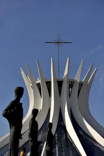 La cathédrale de Brasilia, l'une des oeuvres d'Oscar Niemeyer. | 6 décembre 2012