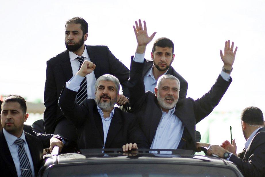 Le chef en exil du mouvement islamiste palestinien... (PHOTO MOHAMMED SALEM, AP)