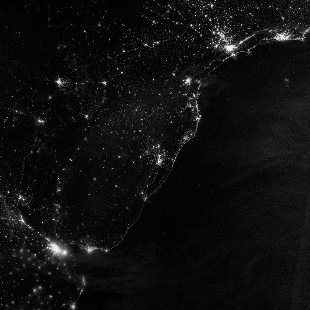 Une partie de l'Amérique du Sud. | 7 décembre 2012