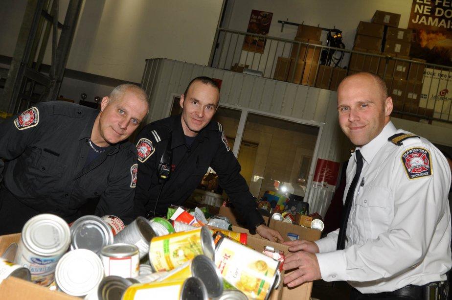 Les pompiers Serge Lacombe, Stéphane Lebrun et Carl Boulianne du Service des incendies de Shawinigan. | 7 décembre 2012