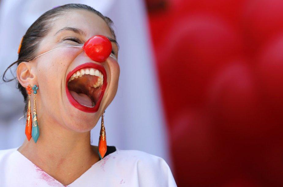 Une participante d'une parade de clowns à Rio de Janeiro. | 7 décembre 2012