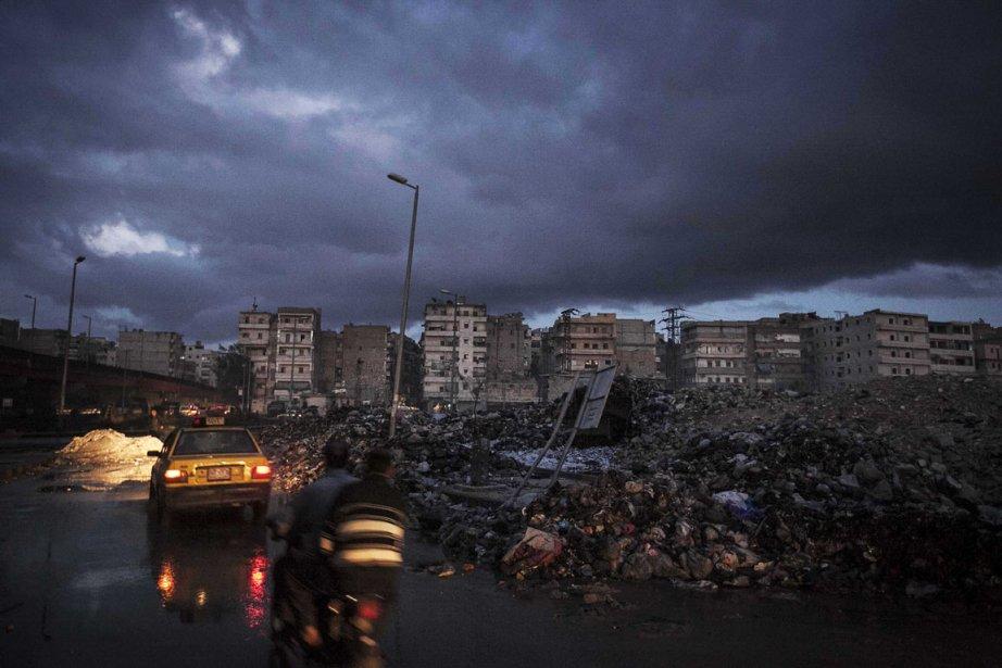 Bâtiments en ruines à Alep  en Syrie | 7 décembre 2012