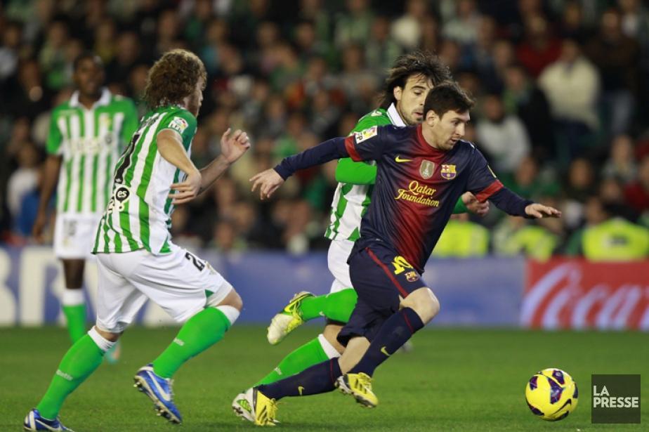 Avec Messi (chandail bleu), la normalité a pris... (Photo: Reuters)