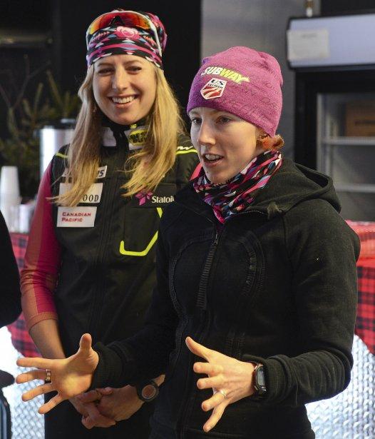 Les athlètes féminines ont rencontré les jeunes, après les compétitions. | 10 décembre 2012