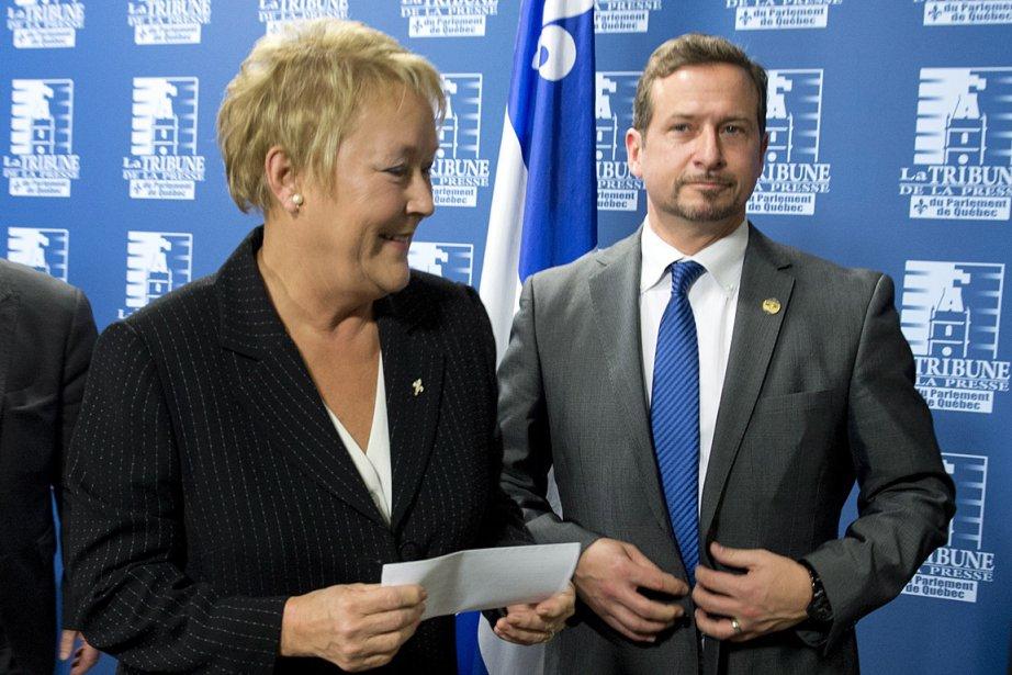 Pauline Marois et Yves-François Blanchet, au moment de... (Photo: PC)