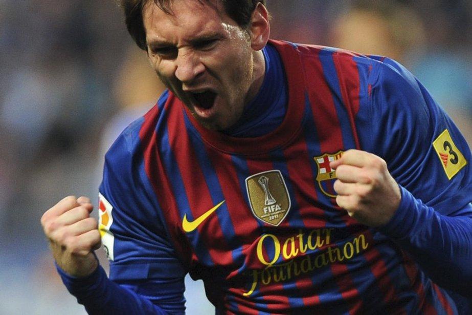 Au classement, Lionel Messi qui joue à Barcelone... (Photo AFP)