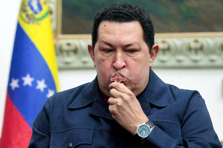 Jeudi, un communiqué officiel a précisé qu'Hugo Chavez... (PHOTO AFP/PRÉSIDENCE VÉNÉZUÉLIENNE)