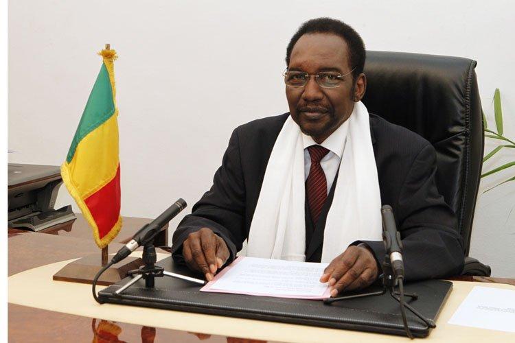 Le président par intérim du Mali, Dioncounda Traoré.... (Photo: AFP)