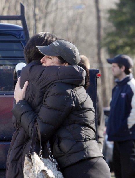La tuerie de vendredi à Newport, au Connecticut,... (Reuters)