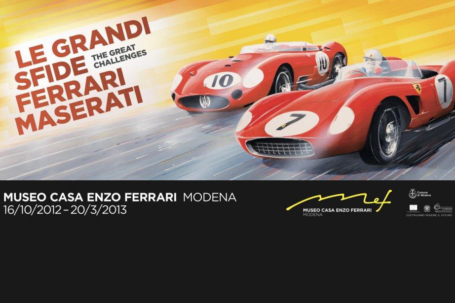 Grand duel Ferrari-Maserati. (Photo fournie par le Musée Casa Enzo Ferrari)