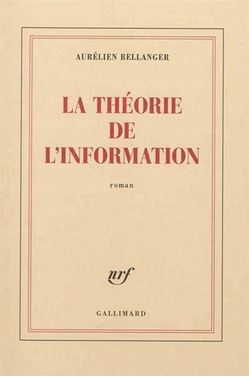 La théorie de l'information, Aurélien Bellanger, Gallimard ()