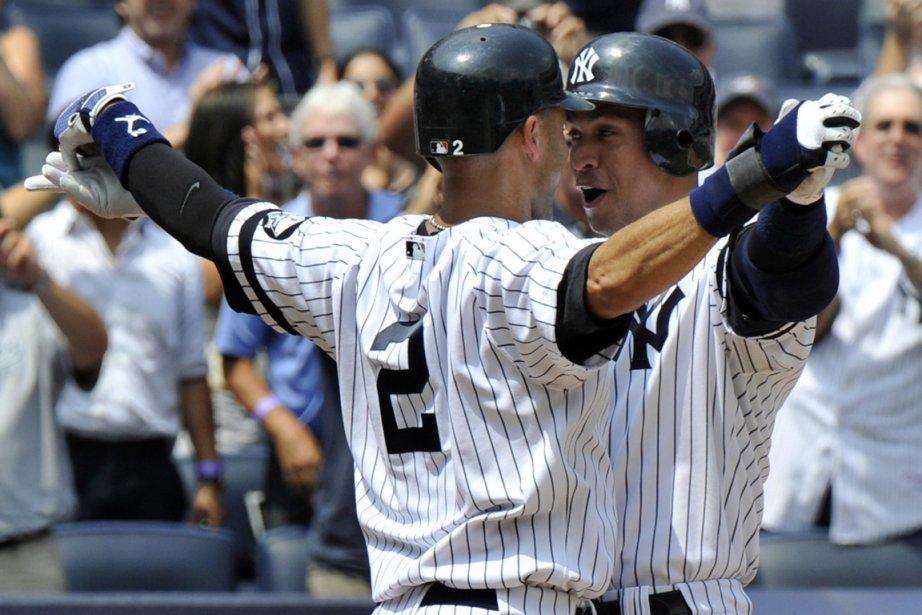 Derek Jeter (gauche) et Alex Rodriguez, des vedettes... (PHOTO RAY STUBBLEBINE, REUTERS)