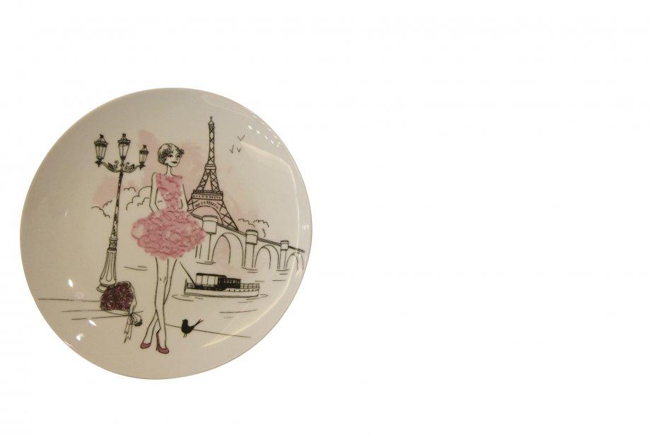 Ensemble de six assiettes Les Parisiennes, 52,99 $ chez Eddy Laurent, 1276, avenue Maguire, Québec, 418682-3005 | 16 décembre 2012