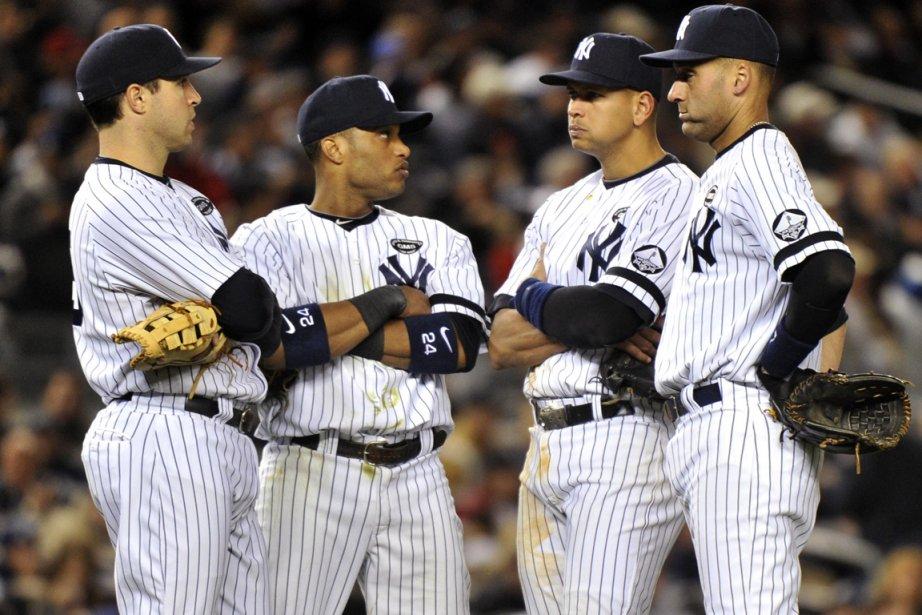 Mark Teixeira, Robinson Cano, Alex Rodriguez et Derek... (Photo: Reuters)