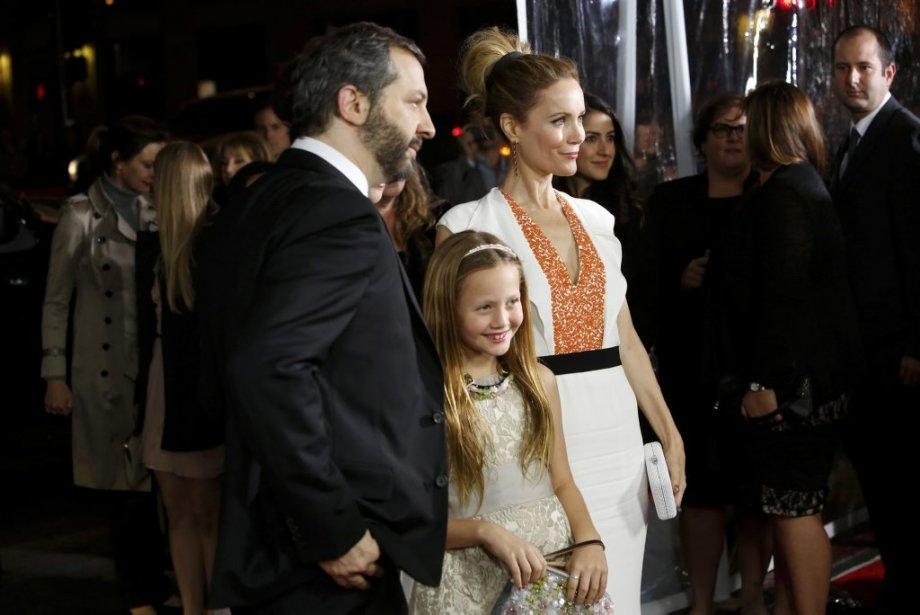 Judd Apatow, sa femme Leslie Mann et leur fille Iris Apatow | 18 décembre 2012