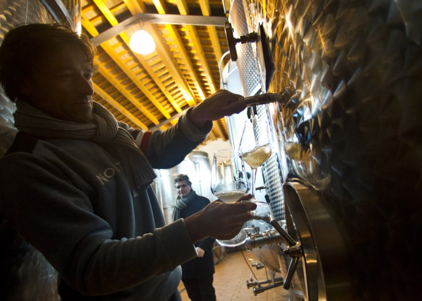 Marathonien extrême, le viticulteur Ivan Geronazzo, de Barichel, a fait l'objet d'un article élogieux dans La Stampa de Turin. (Martin Chamberland, La Presse)