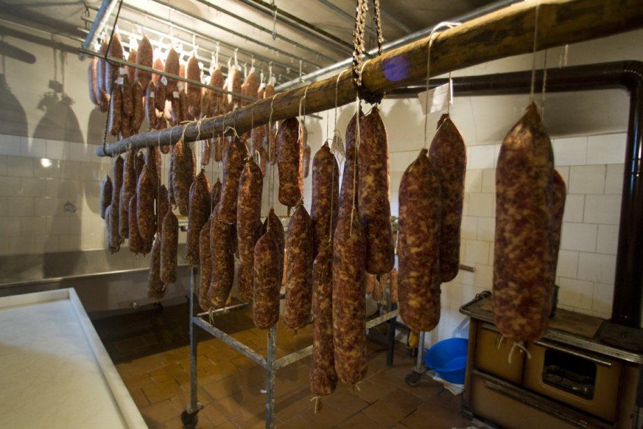 Chez Da Ottavio, les cochons sont gros comme des vaches basses sur pattes, et finissent leur carrière en délicieux salami… | 19 décembre 2012