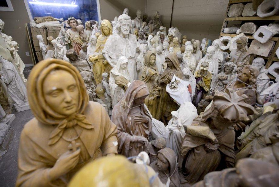 Statues de Giovanni Filippelli (Photo: Alain Roberge, La Presse)