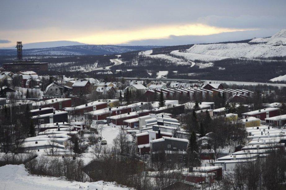 Le village de Kiruna, en Suède.... (Photo: JONATHAN NACKSTRAND, AFP)