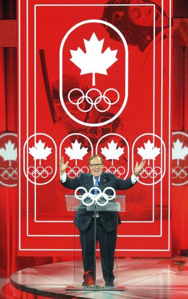 Le président du Comité olympique canadien, Marcel Aubut, lors d'une réunion à Québec | 20 décembre 2012