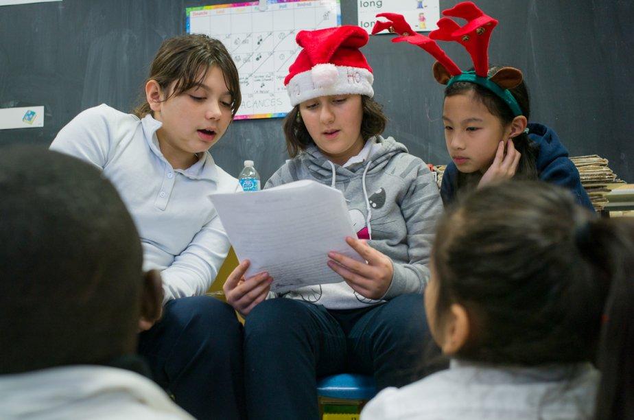C'est Noël avant le temps à l'école Pierre-Rémy,... (Photo Édouard Plante-Fréchette, La Presse)