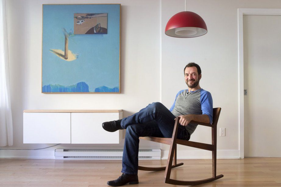La méthode de travail d'Olivier Desrochers est en... (Photo: Robert Skinner, La Presse)
