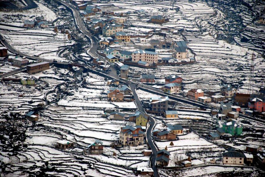 Scène hivernale dans la vallée de Bhaderwa en Inde | 21 décembre 2012
