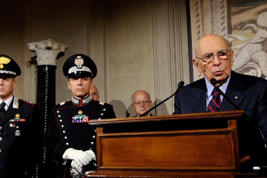 Le président Giorgio Napolitano a dissous samedi les... (Photo : Tiziana Fabi, AFP)