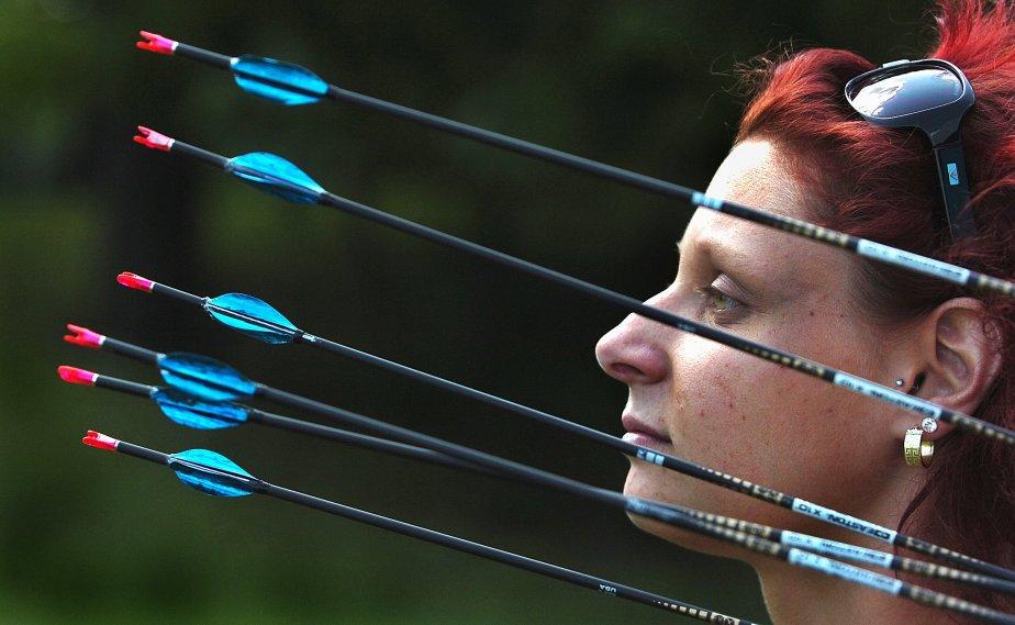 L'archère Marie-Pierre Beaudet de Lévis avant son départ pour les Jeux olympiques de Londres | 26 décembre 2012