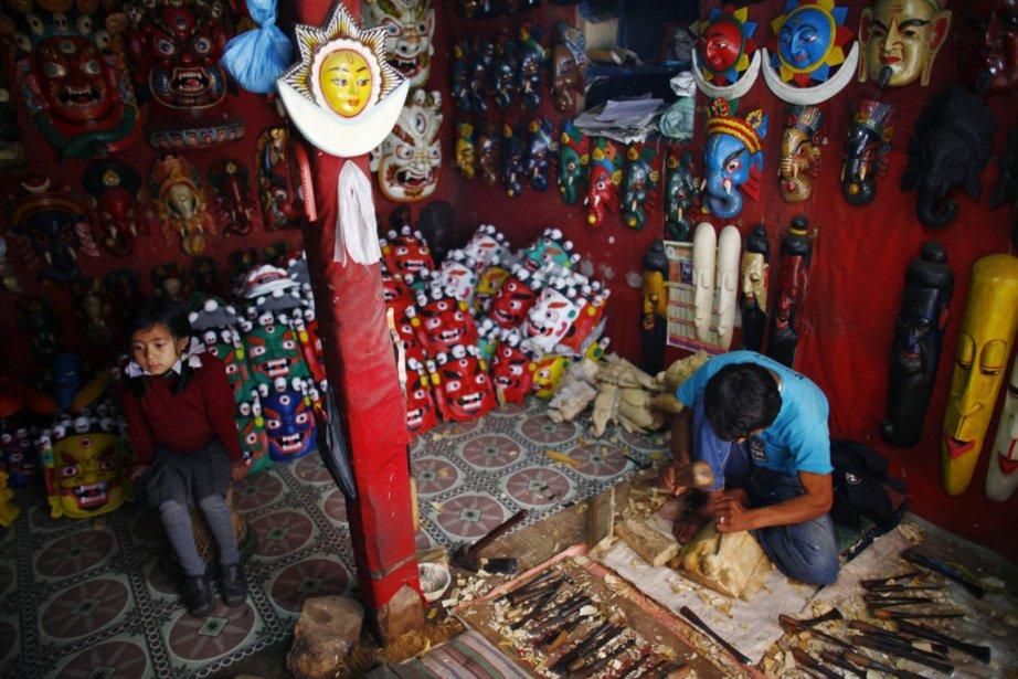 Un artisan de Changunarayan  à l'oeuvre. | 26 décembre 2012