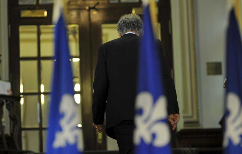 Jean Charest après avoir annoncé sa démission comme chef du Parti libéral | 27 décembre 2012