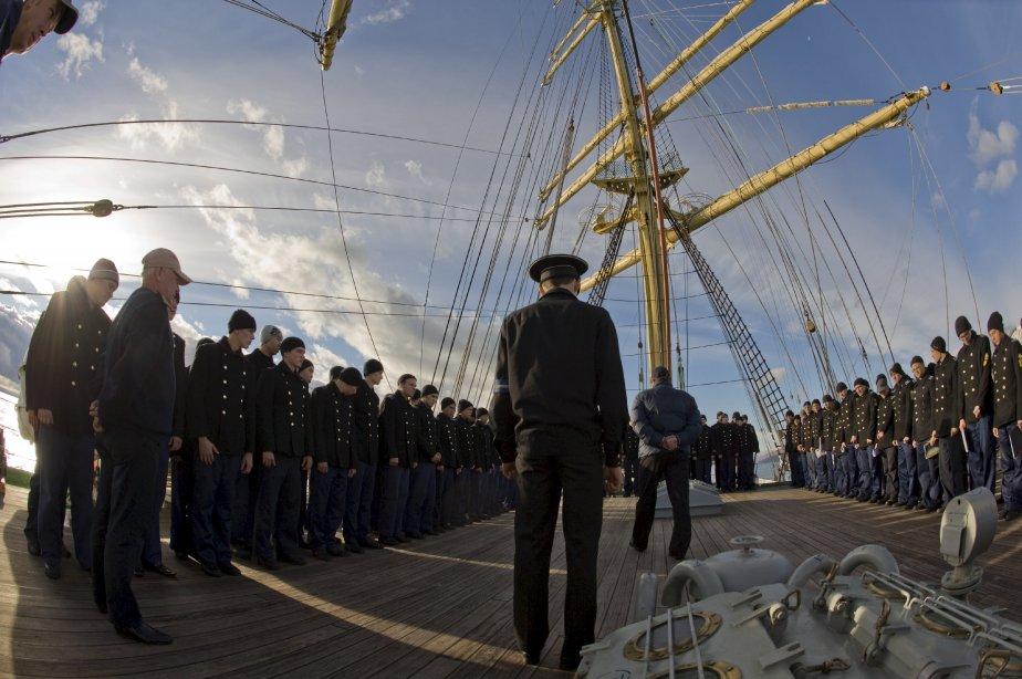 Matelots russes sur le grand voilier Kruzenshtern de passage à Québec en octobre | 27 décembre 2012