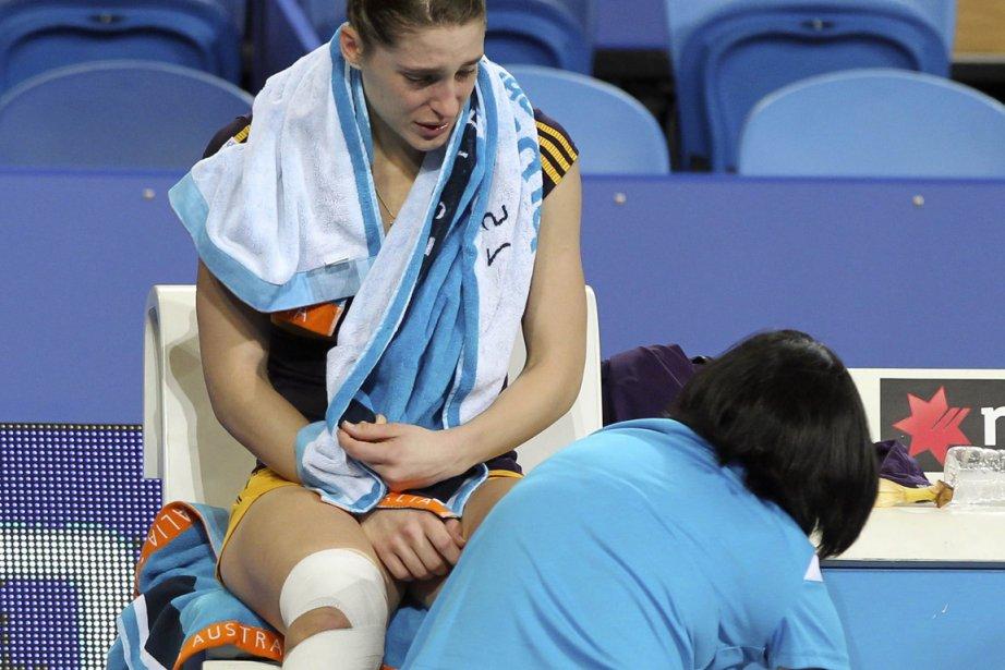 Andrea Petkovic, ancienne no 9 mondiale, a dégringolé... (Photo : Tony Ashby, AFP)