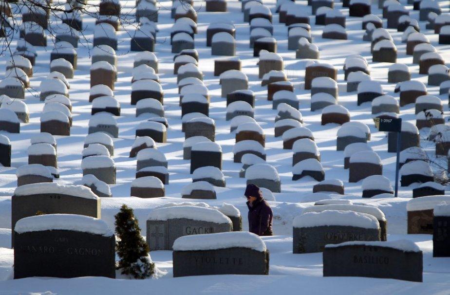 En ce jour de l'An, ambiances hivernales à Montréal, du parc La Fontaine au cimetière de Côte-des-Neiges. (PHOTO MARTIN CHAMBERLAND, LA PRESSE)